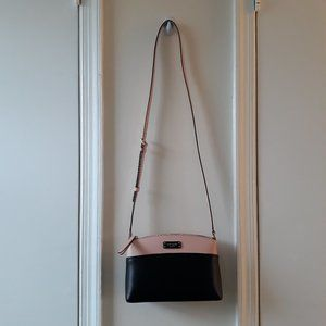 Kate Spade Crossbody Leather Bag Black Warm Vellum
